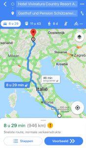 Route van Pompei naar Steinach